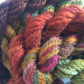 Hand Dyed Silk/Wool    20gms